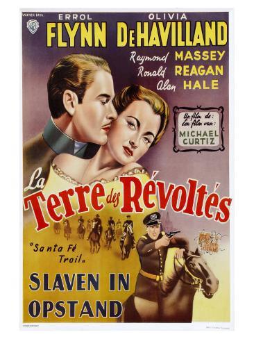 Santa Fe Trail, Belgian Movie Poster, 1940 Art Print