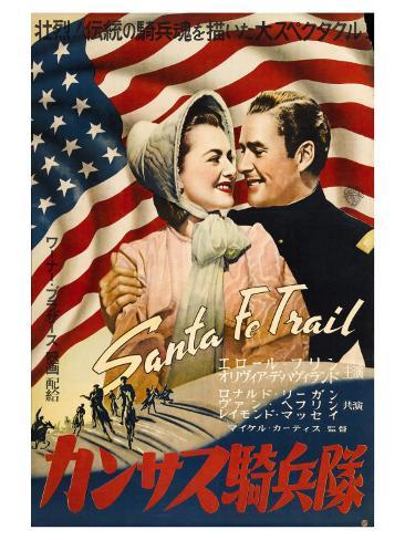 Santa Fe Trail, Japanese Movie Poster, 1940 Art Print