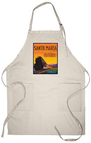 Santa Maria Vegetable Label - Santa Maria, CA Apron Apron