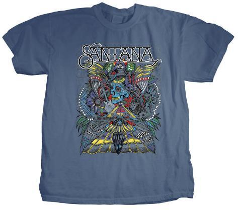 Santana - Folk Skull T-Shirt