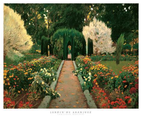 Jardin de aranjuez p sters por santiago rusinol en for Los jardines de aranjuez