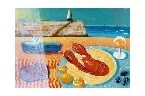 Lobster Giclée-vedos