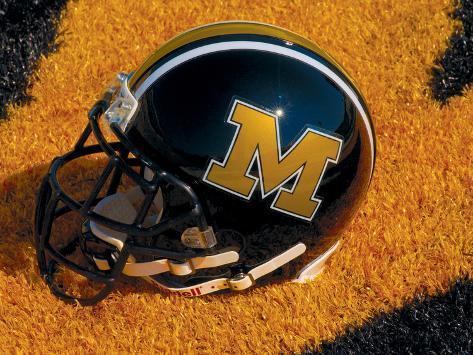University of Missouri - Missouri Football Helmet Sits at Memorial Stadium Photo