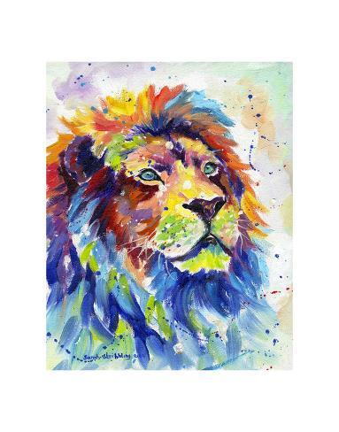 Colorful African Lion Stampa artistica