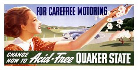 Quaker State Motor Oil Giclee Print