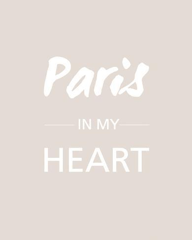 Paris is my Heart - Fawn Giclee Print