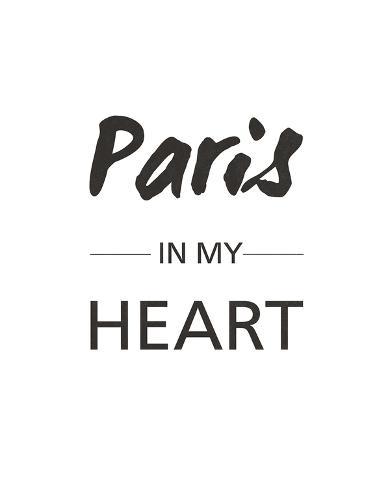 Paris is my Heart Giclee Print