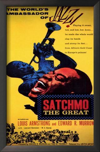 Satchmo the Great Impressão artística emoldurada