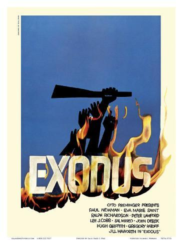 Exodus Motion Picture - Jewish state of Israel Art Print
