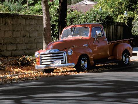 Old GMC Truck During Fall, Santa Barbara, California, USA