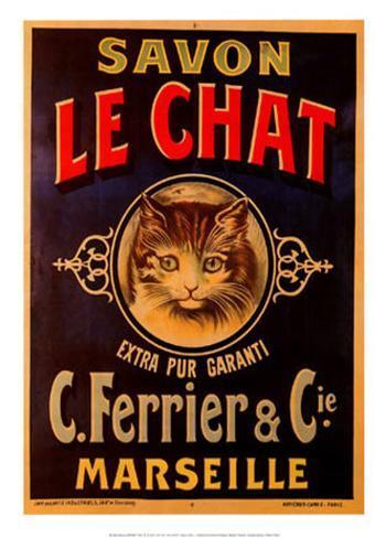 Savon Le Chat Art Print