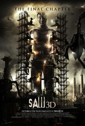 Saw 3-D Double-sided poster