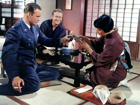 Sayonara, Marlon Brando, Red Buttons, Miyoshi Umeki, 1957 Stretched Canvas Print