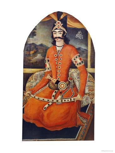 Portrait of Sultan Muhammad Mirza, circa 1835 Giclee Print