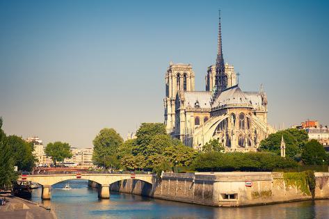 Notre Dame De Paris, Paris, France Photographic Print