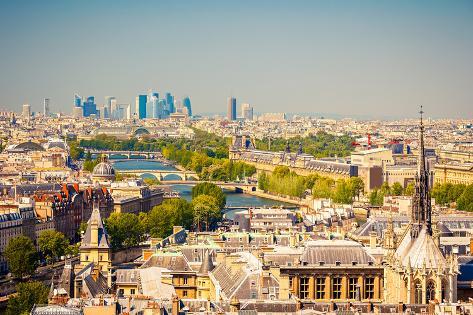 Paris Form Notre Dame Cathedral Photographic Print
