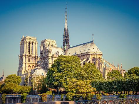 View on Notre Dame De Paris, Paris, France Photographic Print