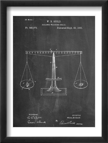 Scales Patent Framed Art Print