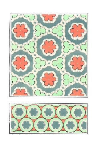 Scalloped Circles and Borders Patterns Art Print