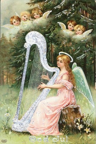 Scandinavian Christmas Card Lámina giclée