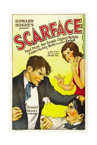 Scarface, 1932, Directed by Howard Hawks Gicléetryck