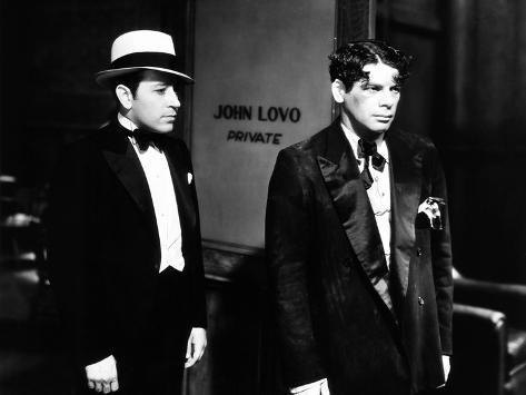 Scarface, from Left: George Raft, Paul Muni, 1932 Photo