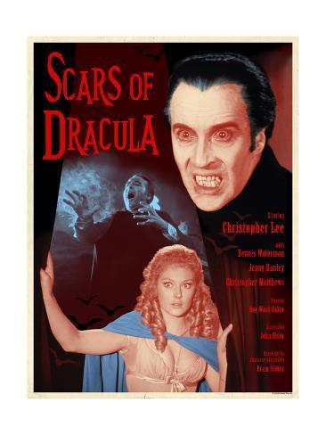 Scars of Dracula 1970 (Blue) Art Print