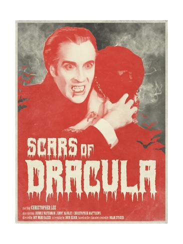 Scars of Dracula 1970 (Red) Stampa artistica
