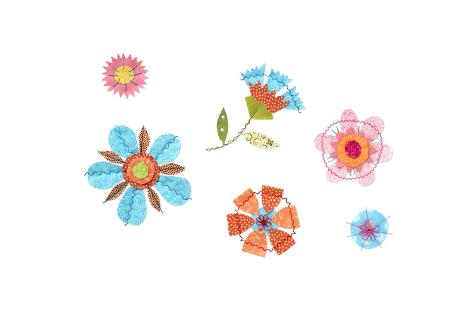 Scattered Crafty Flowers Art Print