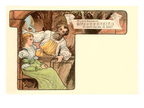 Scene from Die Meistersinger Art Print