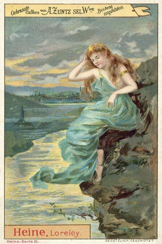 the lorelei poem In the poem it is said that there was a beautiful woman, who used to sit and sing from the top of a cliff, which is located on the right bank of the rhine river her singing and her beauty were so seductive thast the sailors, who were passing the dangerous cliff, could not take there eyes off of her.