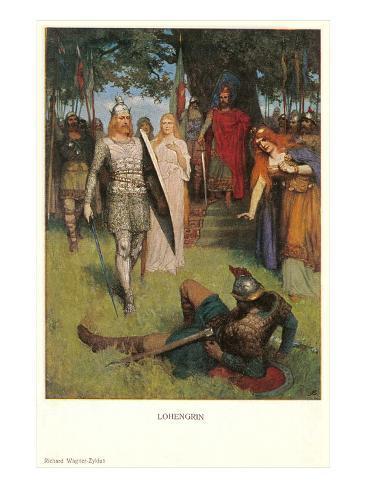 Scene from Lohengrin Art Print
