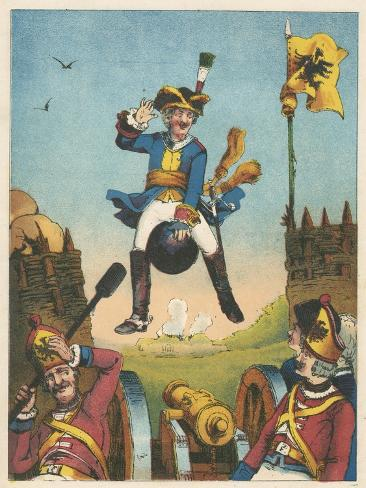 Scene from the Adventures of Baron Munchausen by Rudolph Erich Raspe, C1850 Giclee Print