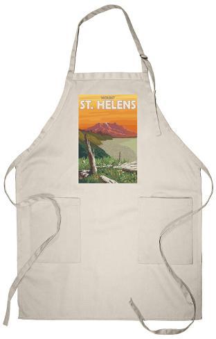 Scenic Mount St. Helens, Washington Apron Apron