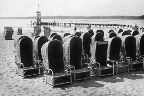 Beach Chairs in Wannsee, 1933 Photographic Print
