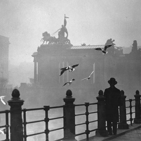 Berlin in the Mist, 1934 Photographic Print