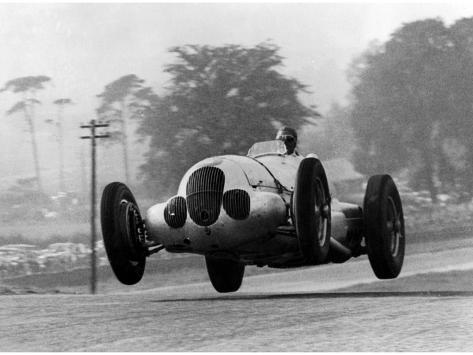 Manfred Von Brauchitsch Becomes Second in the Donington Grand Prix 1937 Photographic Print