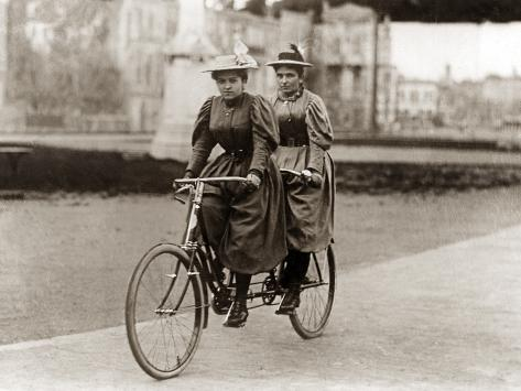 tandem riders in berlin 1905 photographic print by scherl. Black Bedroom Furniture Sets. Home Design Ideas