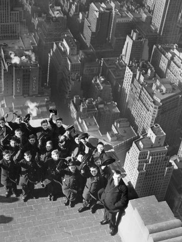 Vienna Boys' Choir on the Empire State Building, 1938 Photographic Print