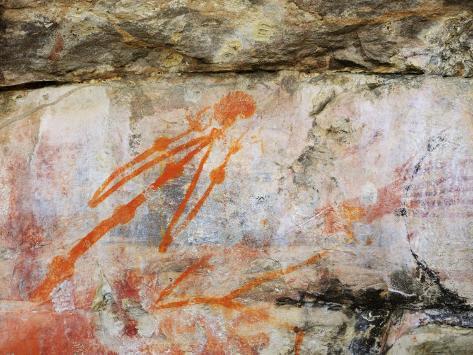 Aboriginal Rock Art, Ubirr, Kakadu National Park, Northern Territory, Australia, Pacific Photographic Print