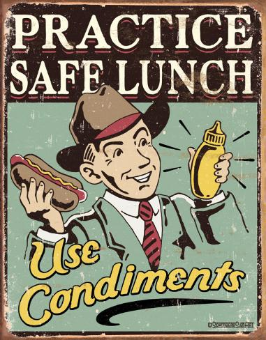 Schonberg - Safe Lunch Plåtskylt