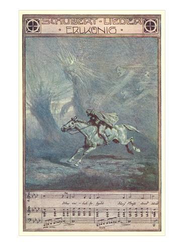 Schubert Lieder Erlkonig Art Print