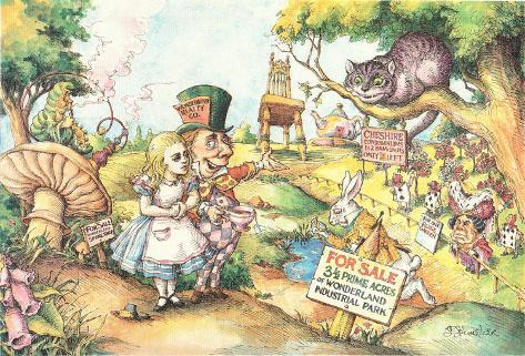Alice Buying Wonderland Art Print