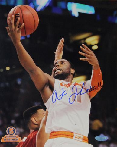 Scoop Jardine Syracuse White Jersey Autographed Photo (Hand Signed Collectable) Photo