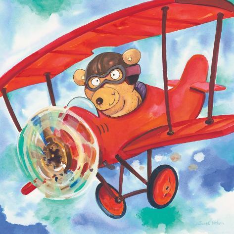 Action Bear Art Print