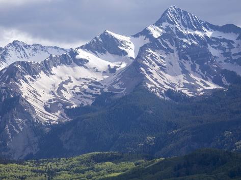 The San Miguel Range, Part of the San Juan Mountains Near Telluride Photographic Print