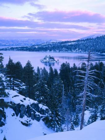 Lake Forest Sports Cars >> Emerald Bay State Park in Winter at Dusk, Lake Tahoe ...