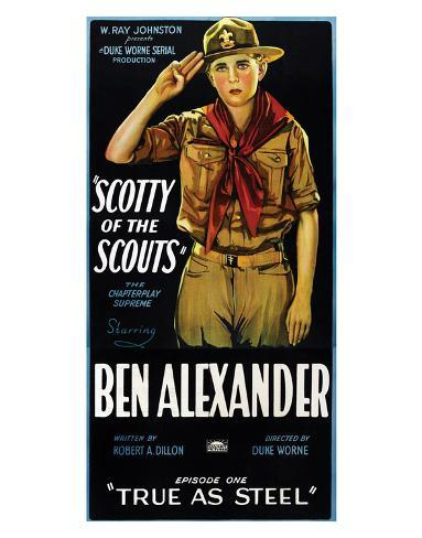 Scotty Of The Scouts - 1926 Impressão giclée