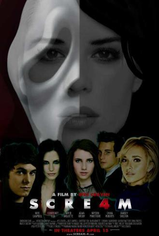 Scream 4 Lámina maestra