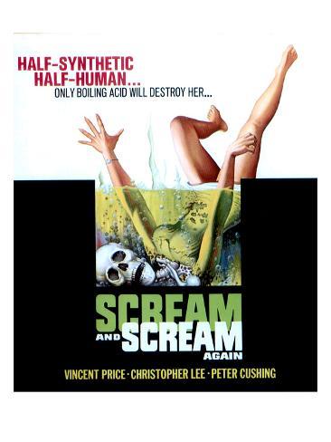 Scream And Scream Again, 1970 Stretched Canvas Print